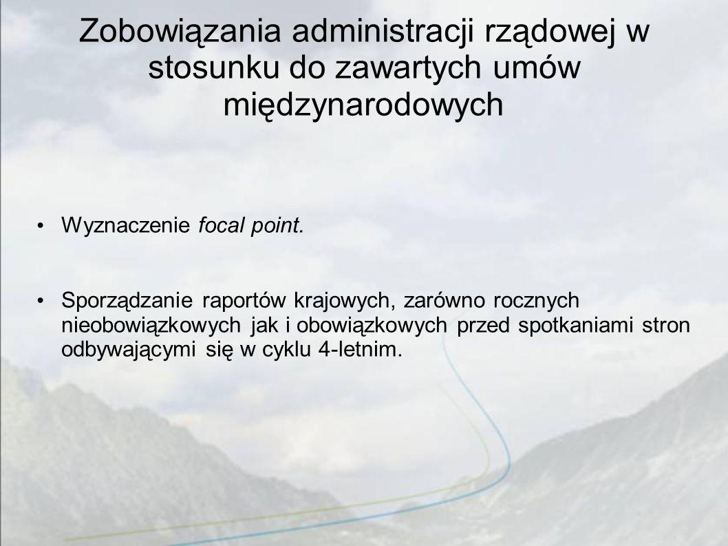 Zobowiązania administracji rządowej w stosunku do zawartych umów międzynarodowych