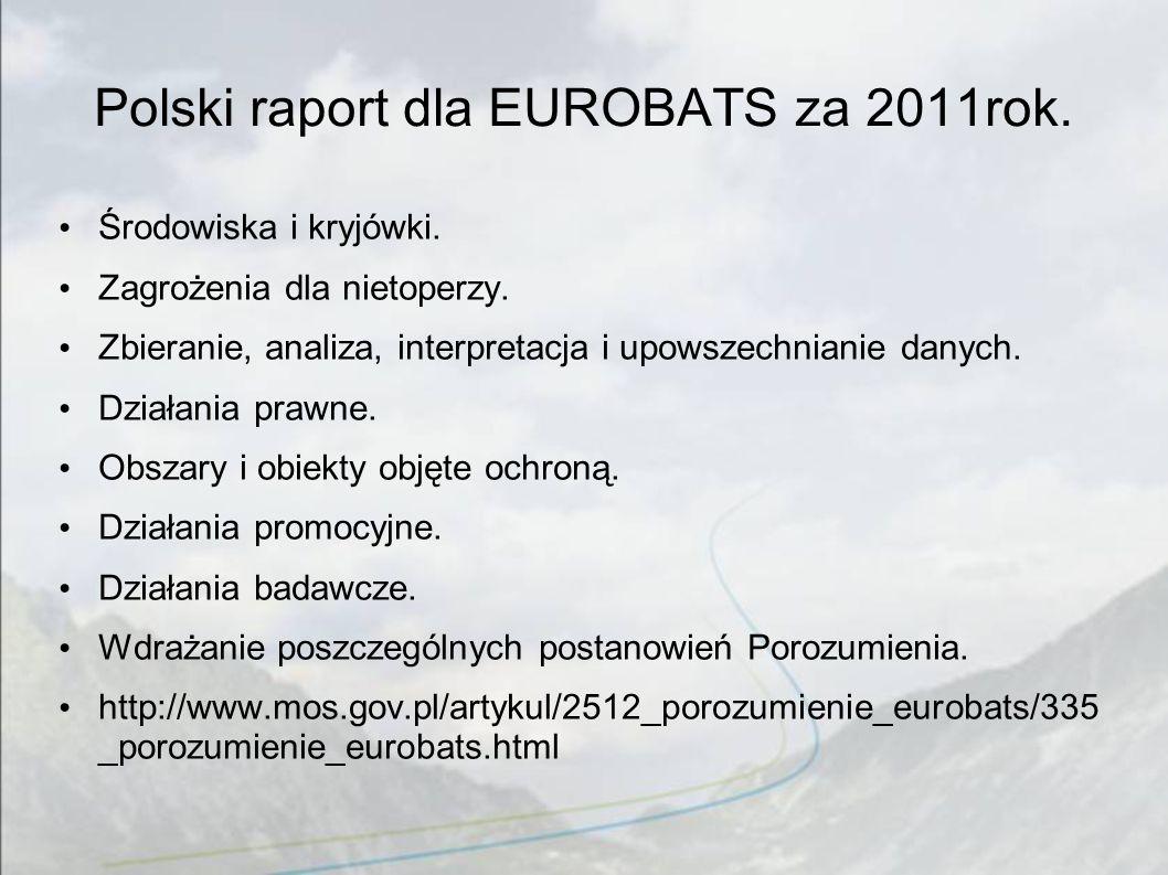 Polski raport dla EUROBATS za 2011rok.