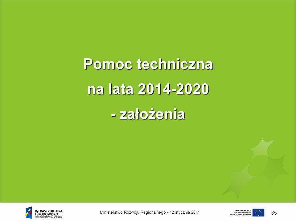 Pomoc techniczna na lata 2014-2020 - założenia