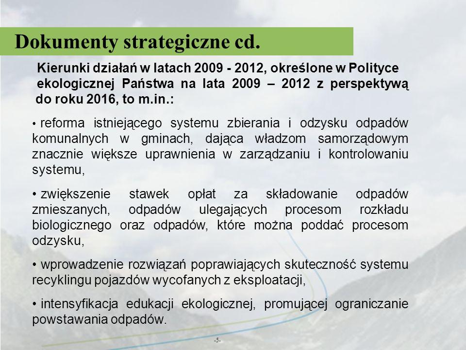 Dokumenty strategiczne cd.