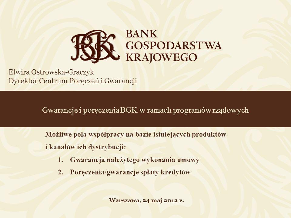 Gwarancje i poręczenia BGK w ramach programów rządowych