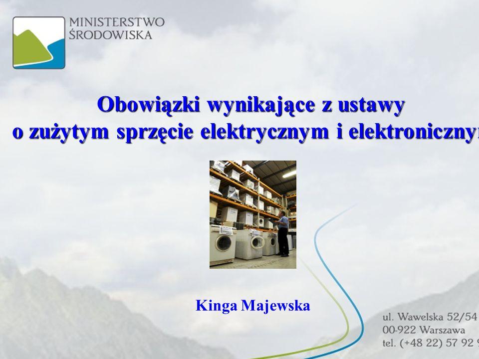 Ustawa o zużytym sprzęcie elektrycznym i elektronicznym