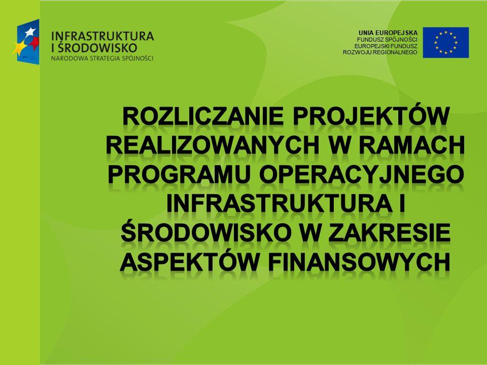 Rozliczanie projektów realizowanych w ramach Programu operacyjnego Infrastruktura i środowisko w zakresie aspektów finansowych