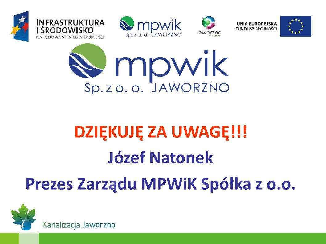 Prezes Zarządu MPWiK Spółka z o.o.