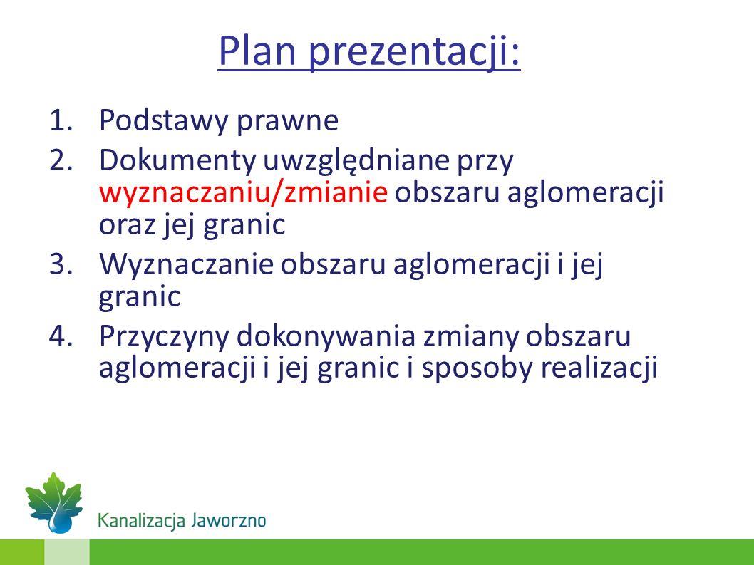 Plan prezentacji: Podstawy prawne