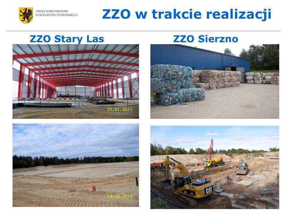 ZZO w trakcie realizacji ZZO Stary Las ZZO Sierzno