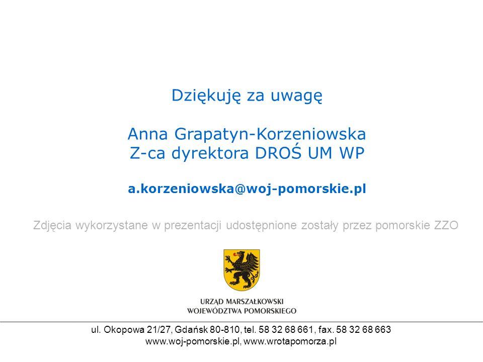 Anna Grapatyn-Korzeniowska Z-ca dyrektora DROŚ UM WP