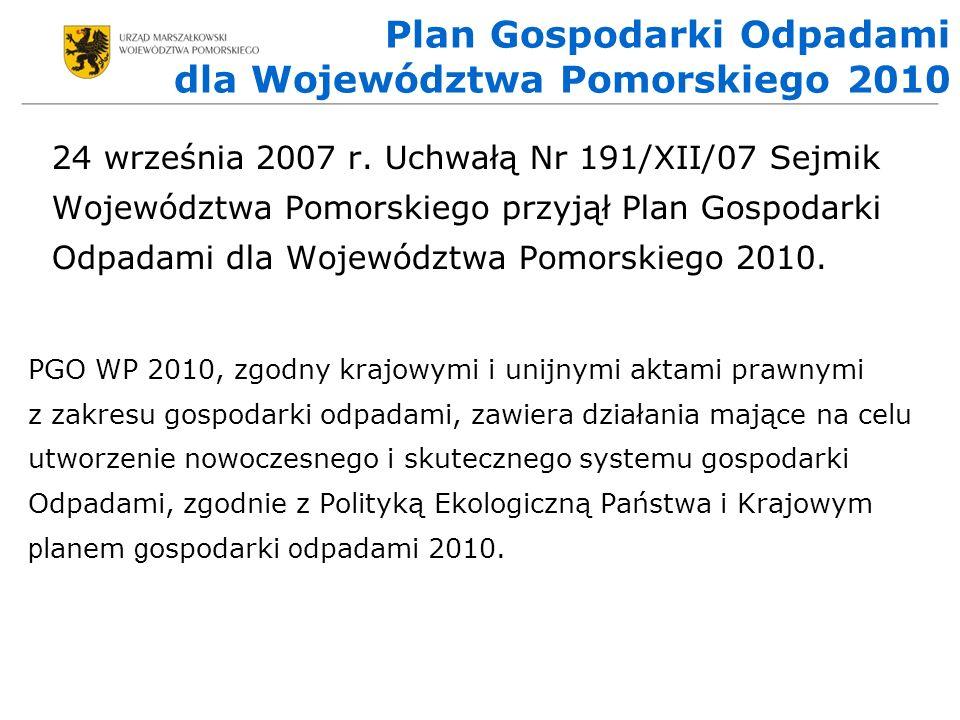 Plan Gospodarki Odpadami dla Województwa Pomorskiego 2010