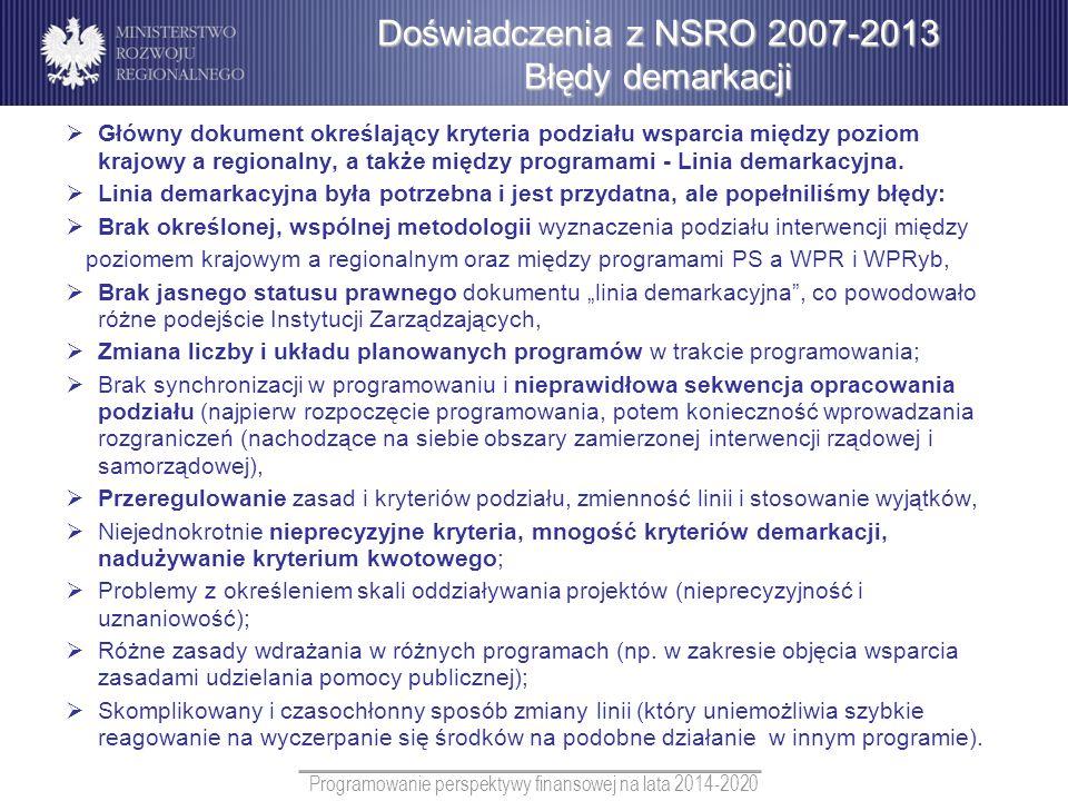 Programowanie perspektywy finansowej na lata 2014-2020