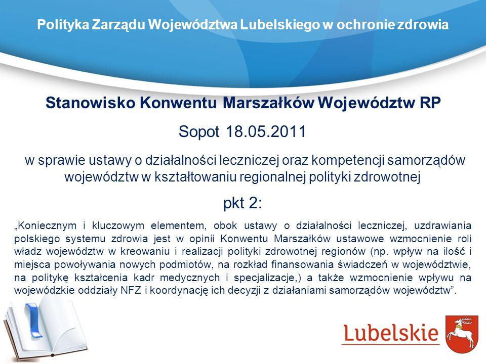 Stanowisko Konwentu Marszałków Województw RP