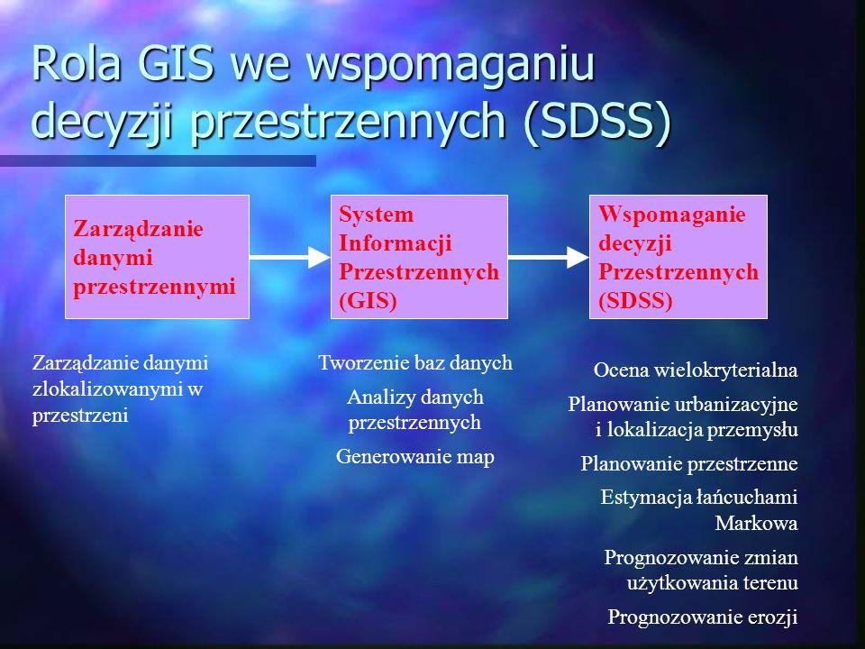 Rola GIS we wspomaganiu decyzji przestrzennych (SDSS)