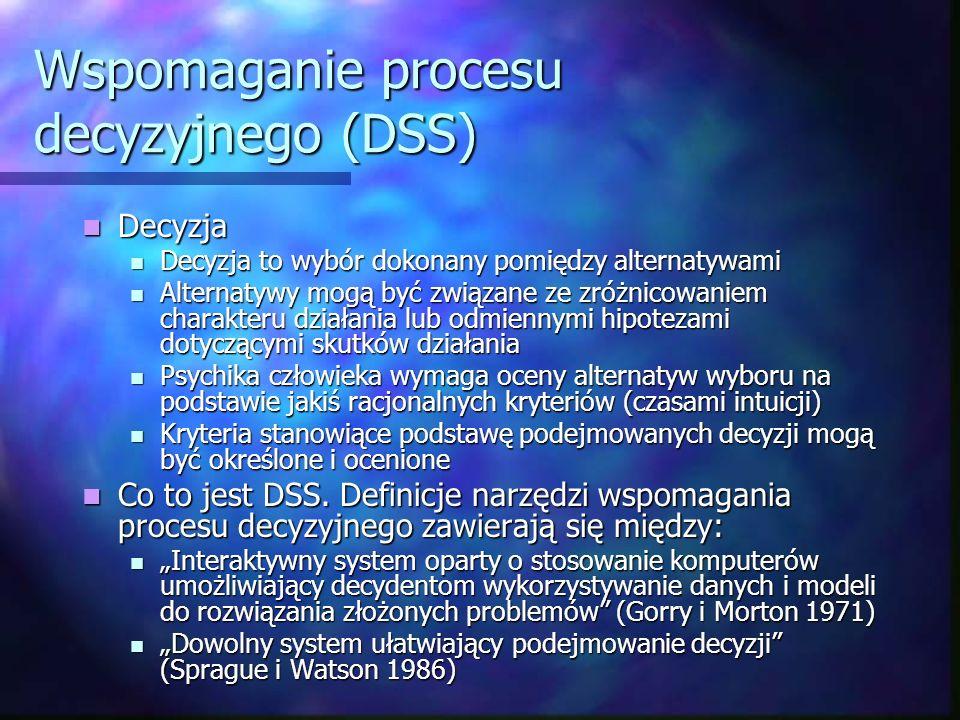 Wspomaganie procesu decyzyjnego (DSS)