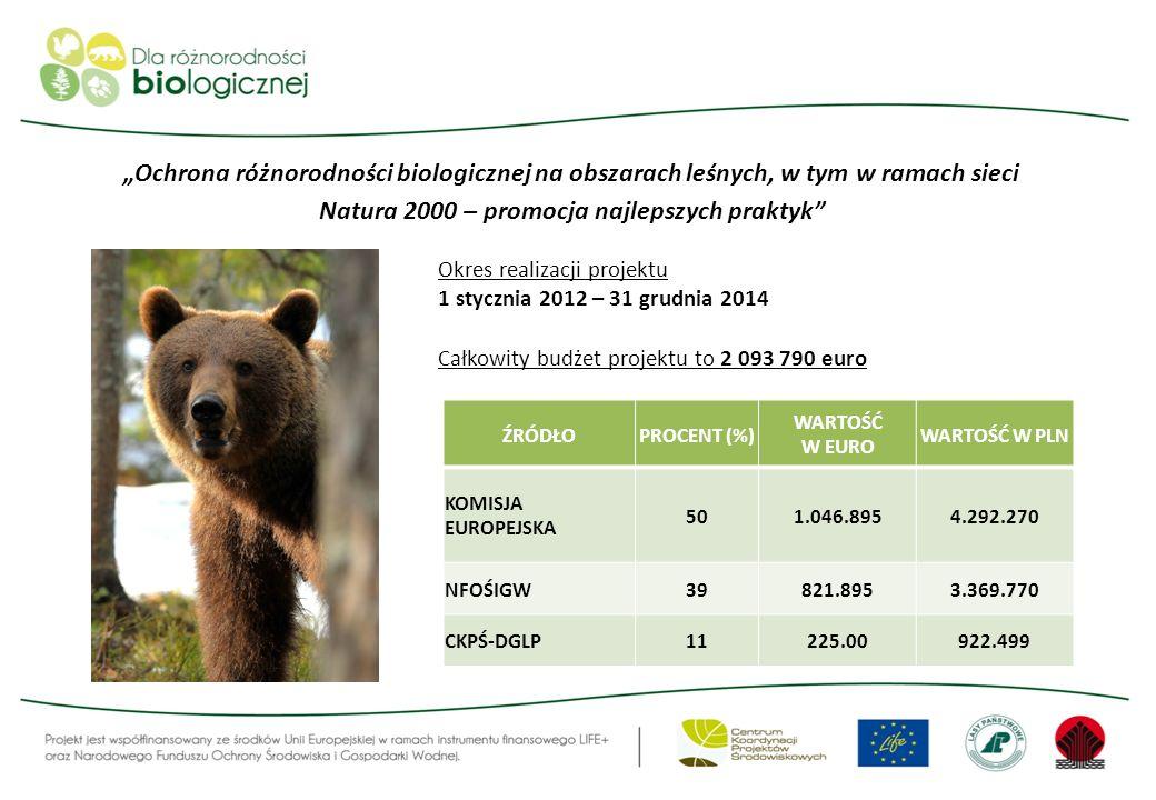 """""""Ochrona różnorodności biologicznej na obszarach leśnych, w tym w ramach sieci Natura 2000 – promocja najlepszych praktyk"""