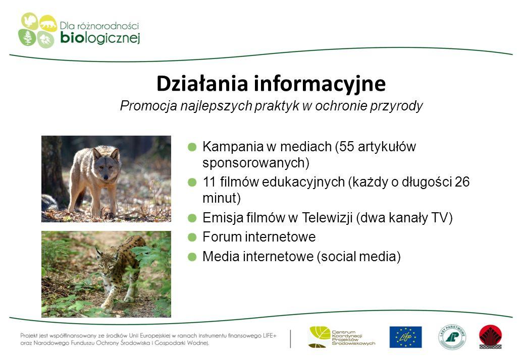 Działania informacyjne Promocja najlepszych praktyk w ochronie przyrody