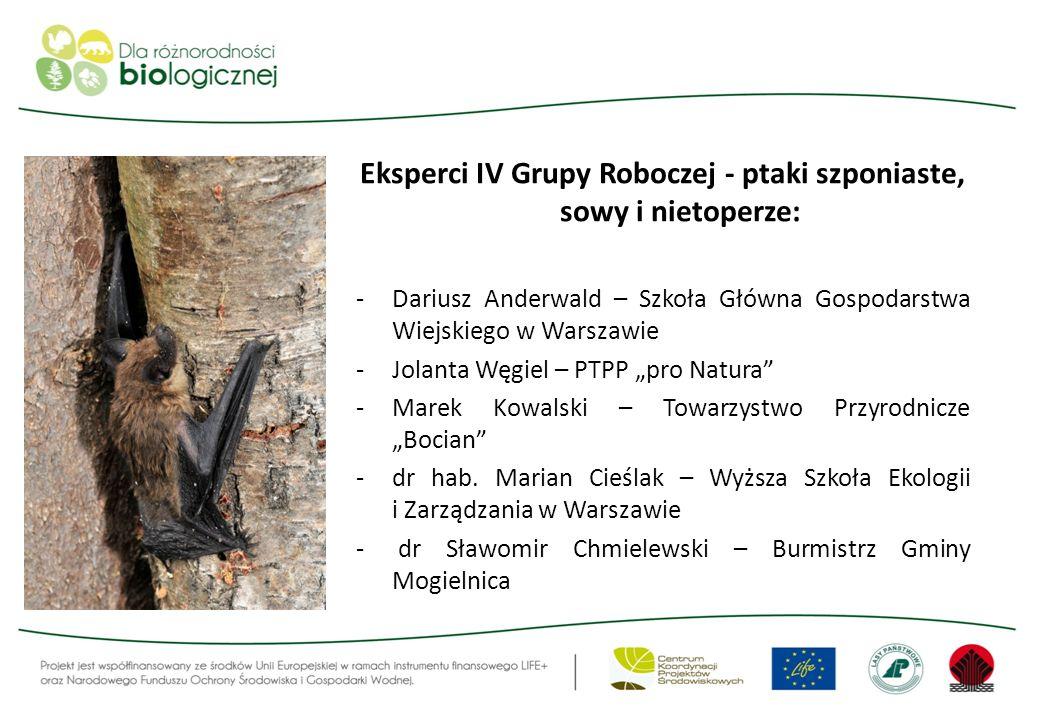 Eksperci IV Grupy Roboczej - ptaki szponiaste, sowy i nietoperze:
