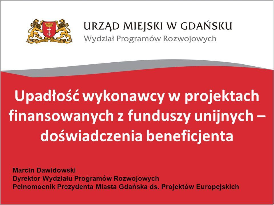 Upadłość wykonawcy w projektach finansowanych z funduszy unijnych – doświadczenia beneficjenta