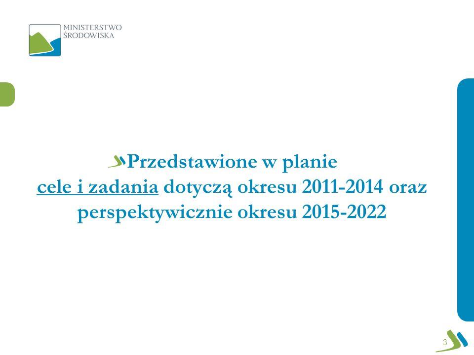 Przedstawione w planie cele i zadania dotyczą okresu 2011-2014 oraz perspektywicznie okresu 2015-2022