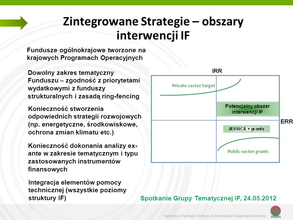 Zintegrowane Strategie – obszary interwencji IF