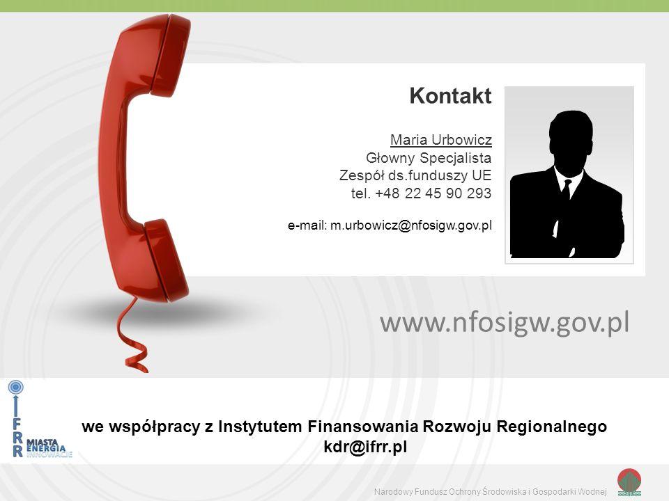 www.nfosigw.gov.pl Kontakt Maria Urbowicz