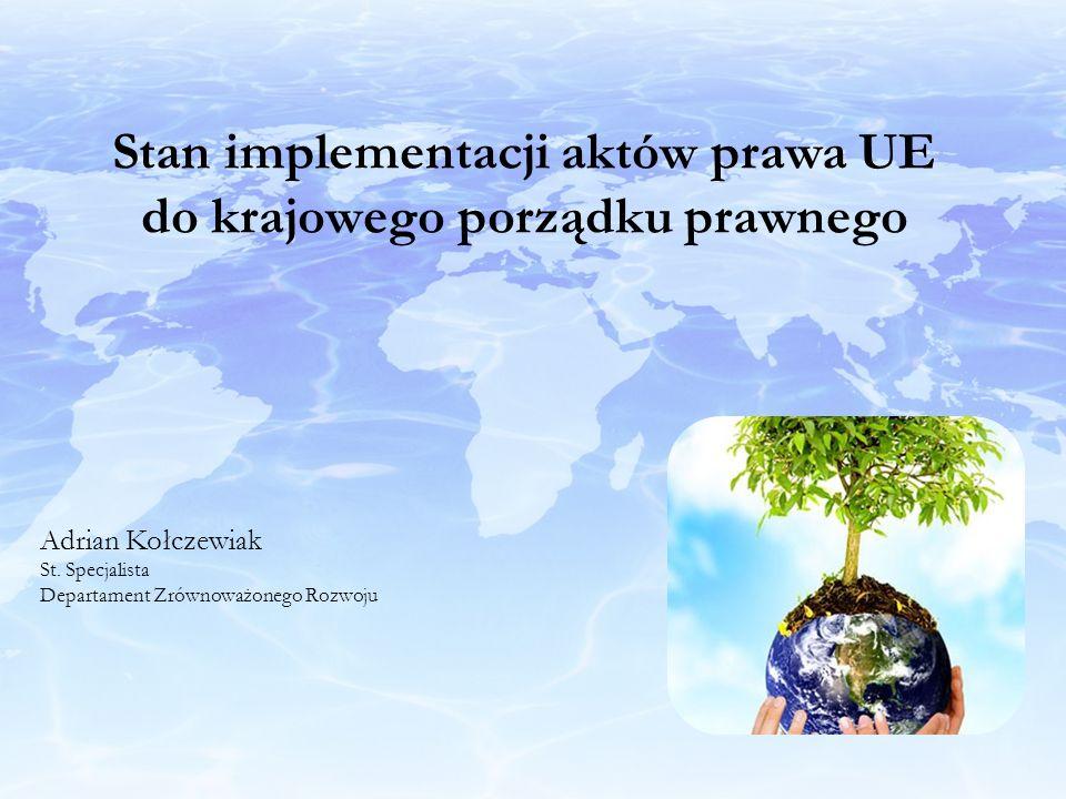 Stan implementacji aktów prawa UE do krajowego porządku prawnego