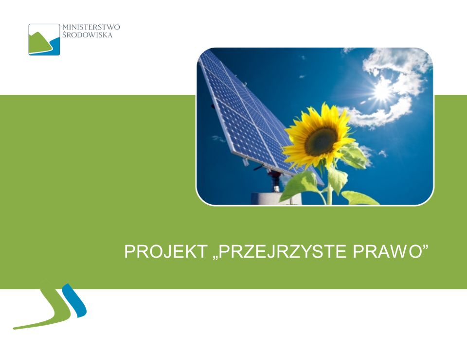 """Projekt """"Przejrzyste prawo"""