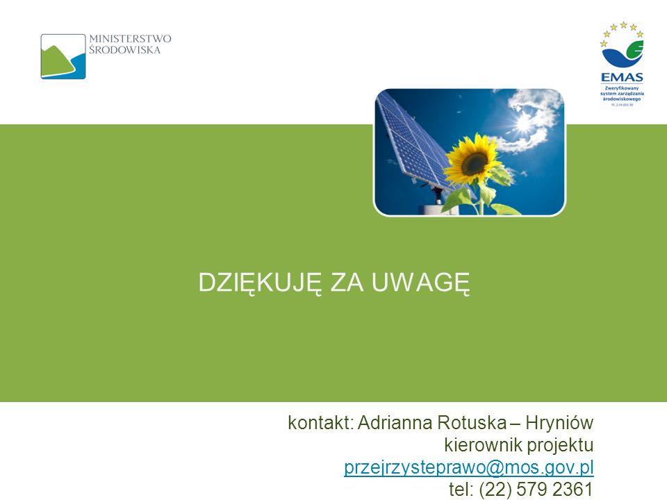Dziękuję za uwagę kontakt: Adrianna Rotuska – Hryniów