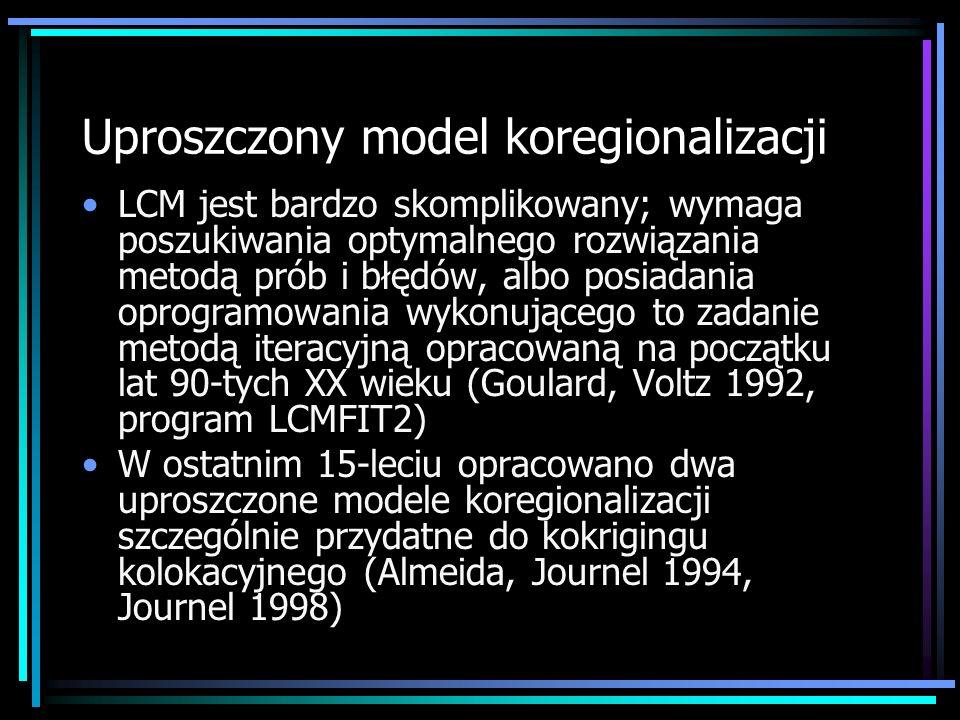 Uproszczony model koregionalizacji