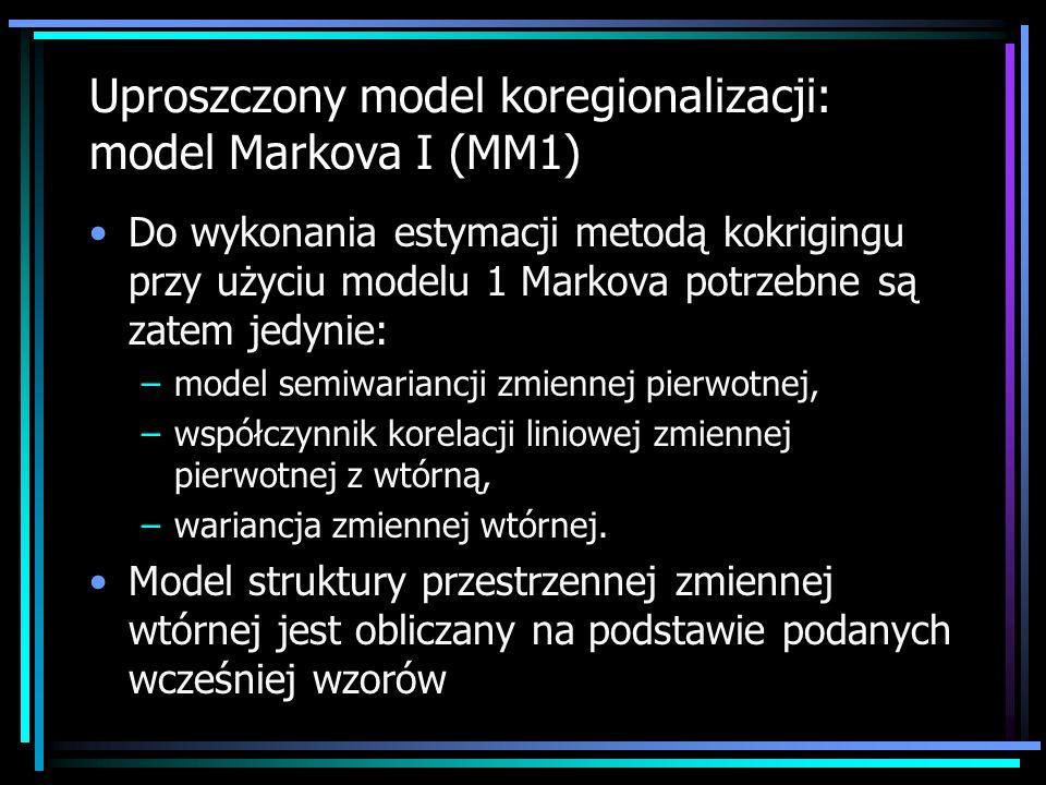 Uproszczony model koregionalizacji: model Markova I (MM1)