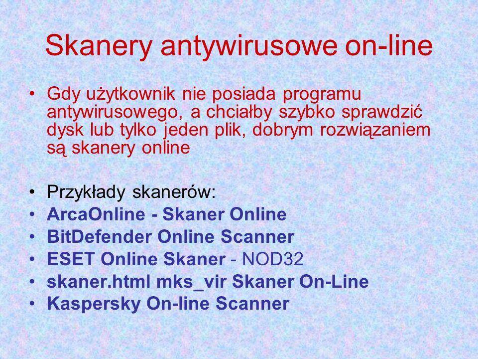 Skanery antywirusowe on-line