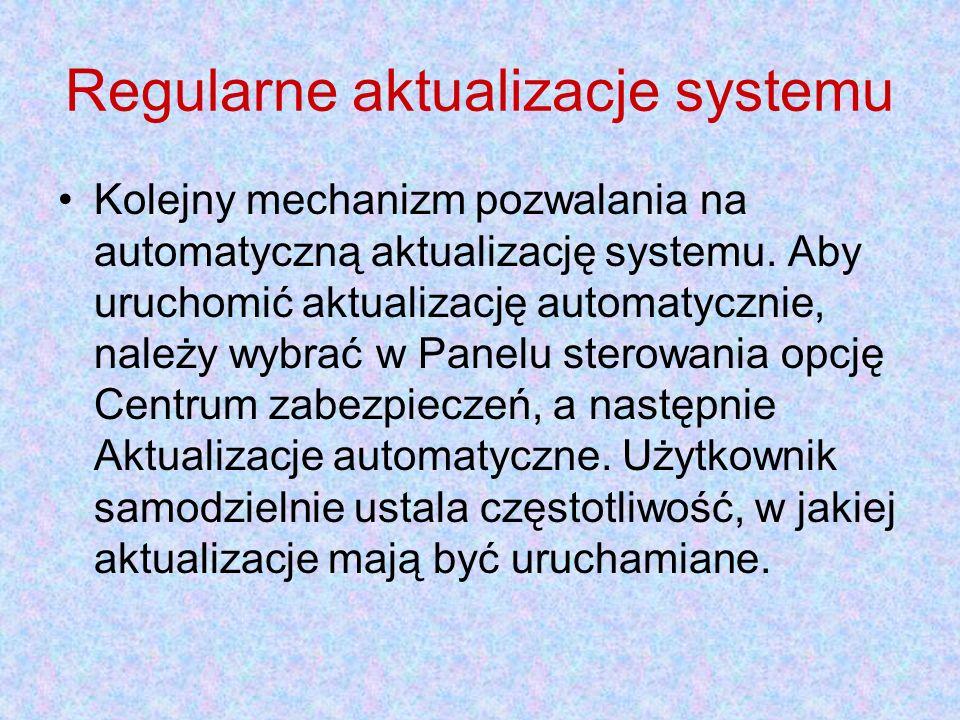 Regularne aktualizacje systemu