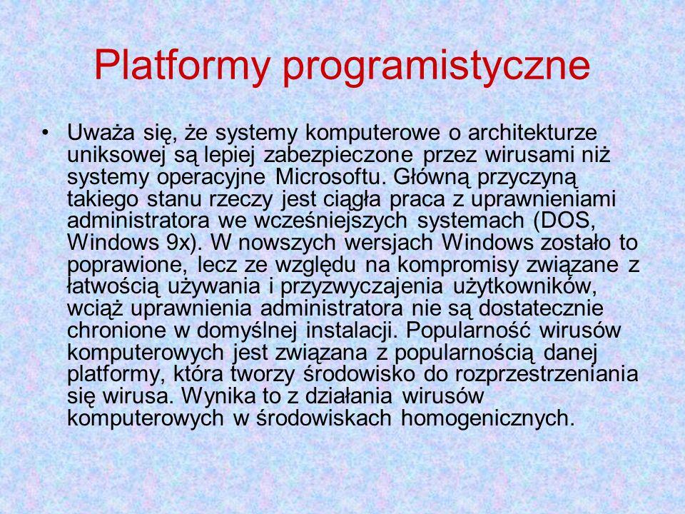 Platformy programistyczne