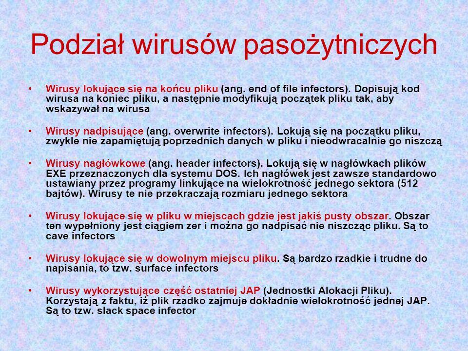 Podział wirusów pasożytniczych
