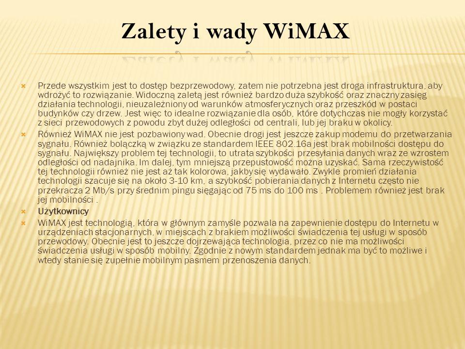 Zalety i wady WiMAX