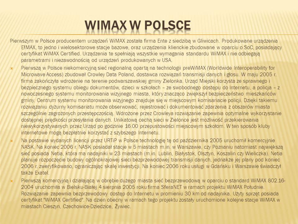 WiMAX w Polsce