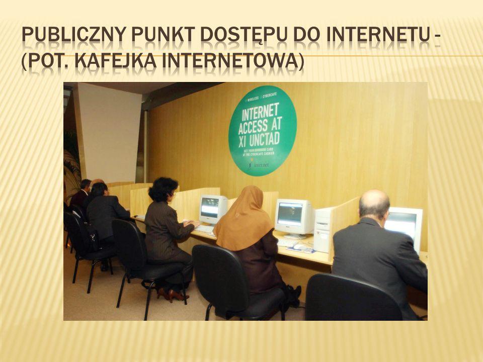 Publiczny punkt dostępu do internetu - (pot. kafejka internetowa)