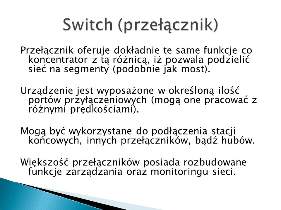 Switch (przełącznik)