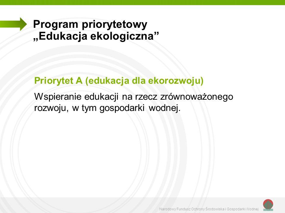 """Program priorytetowy """"Edukacja ekologiczna"""