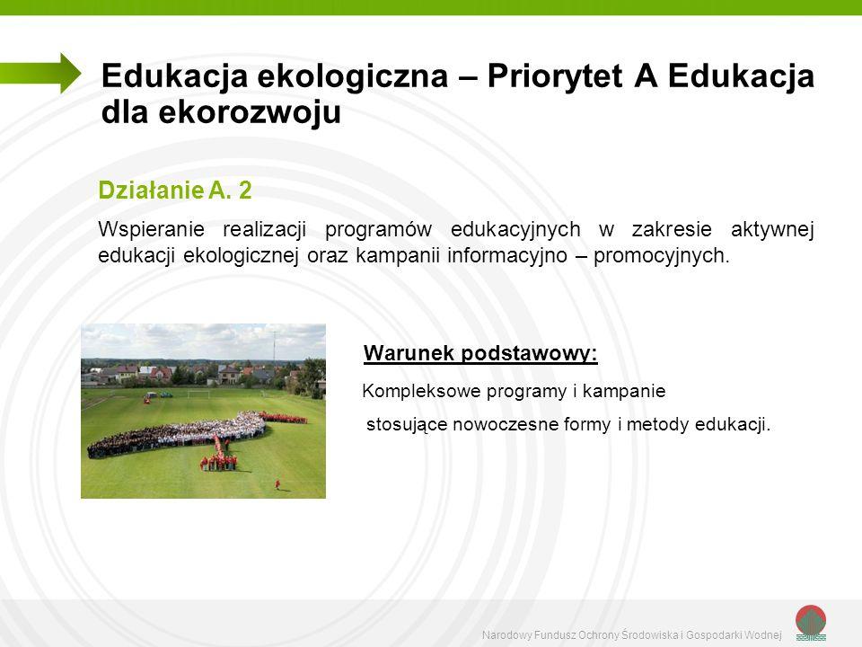 Edukacja ekologiczna – Priorytet A Edukacja dla ekorozwoju