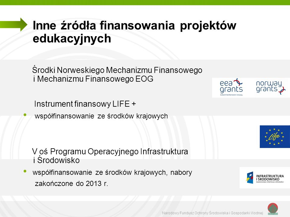 Inne źródła finansowania projektów edukacyjnych