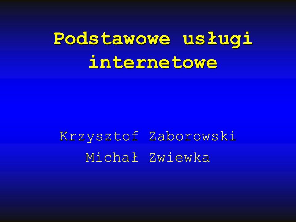Podstawowe usługi internetowe