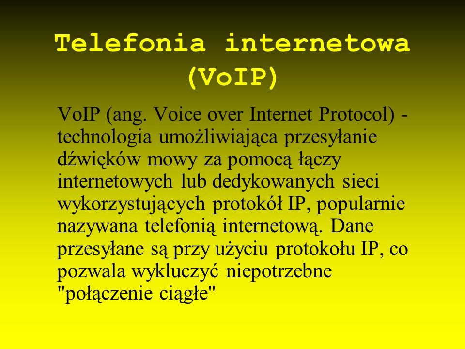Telefonia internetowa (VoIP)