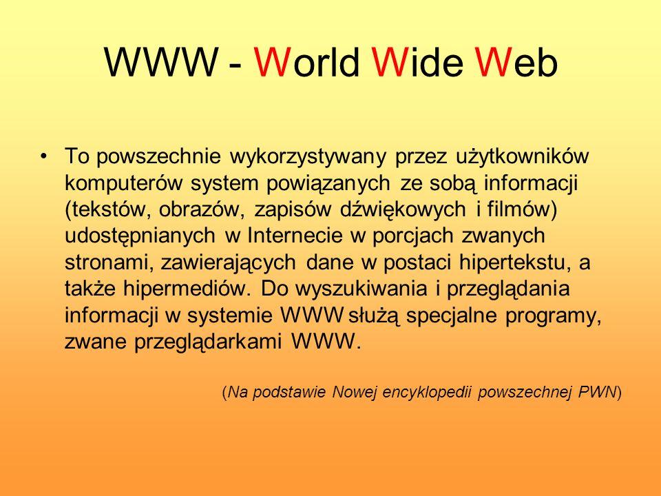 WWW - World Wide Web