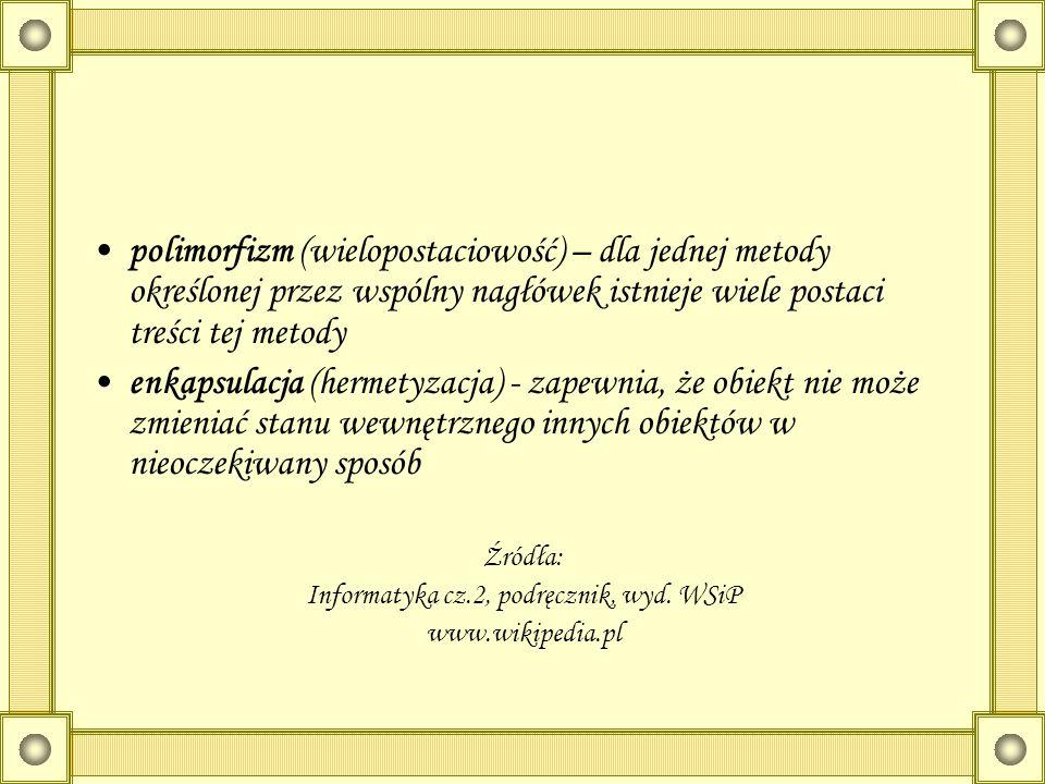Informatyka cz.2, podręcznik, wyd. WSiP