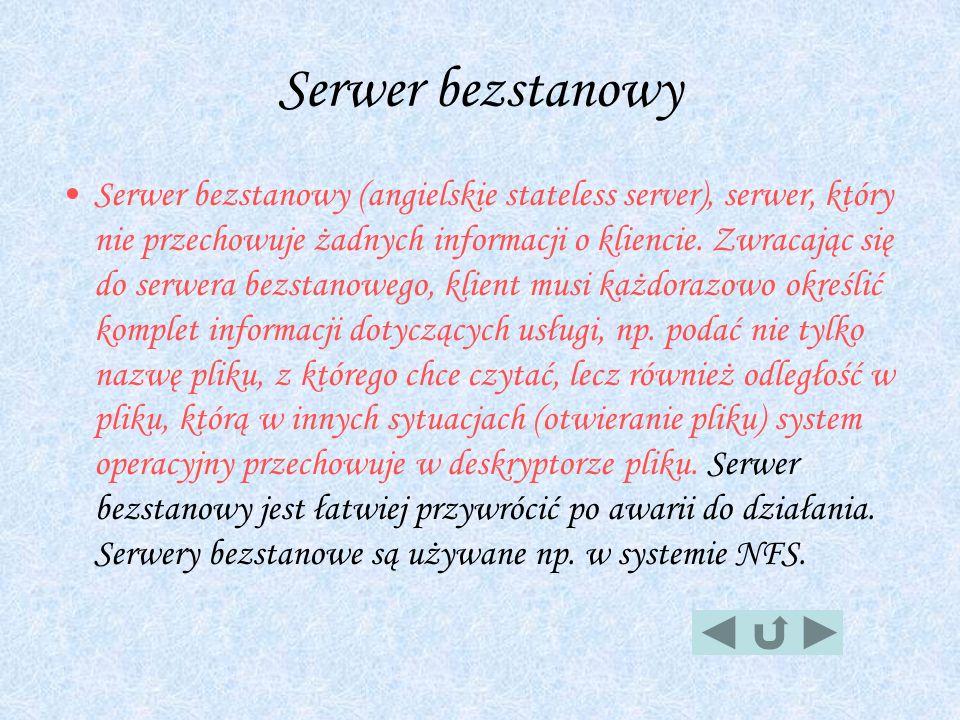 Serwer bezstanowy