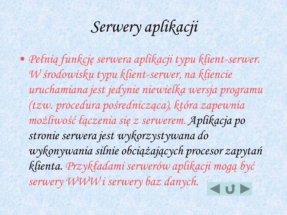 Serwery aplikacji