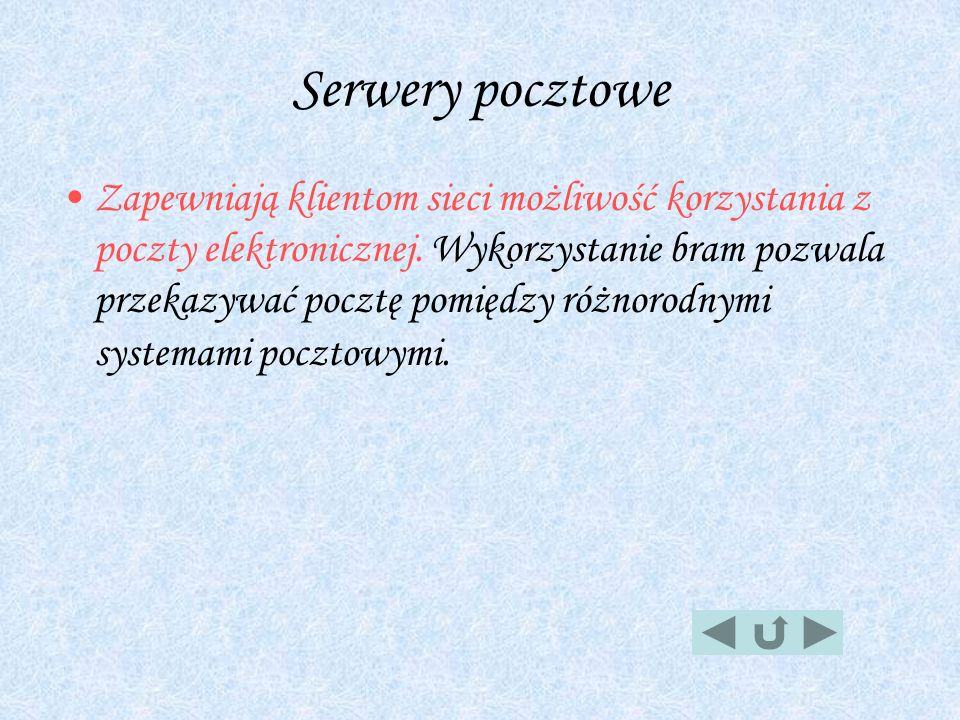 Serwery pocztowe