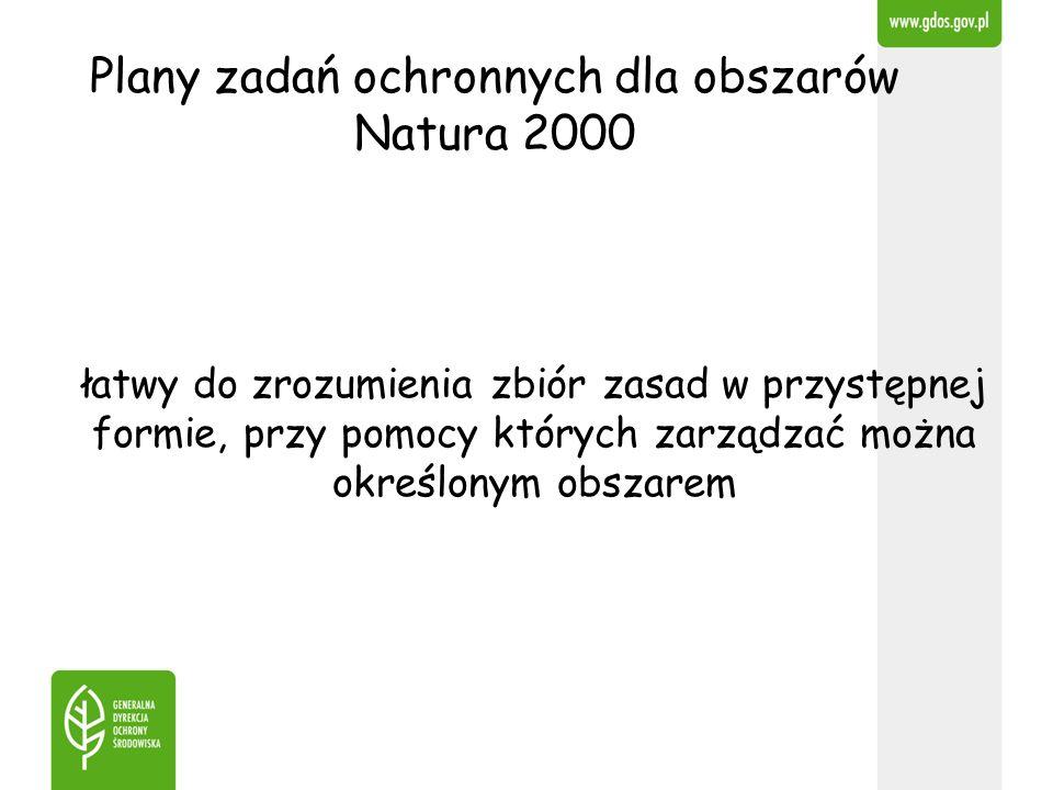 Plany zadań ochronnych dla obszarów Natura 2000