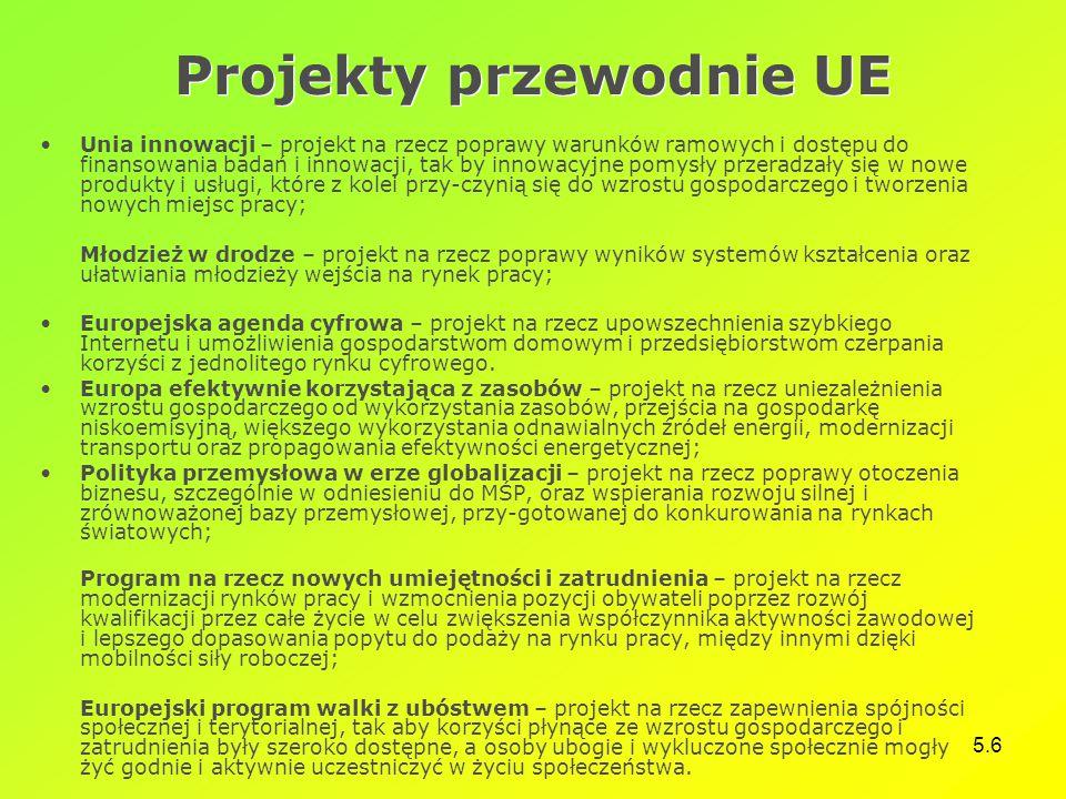 Projekty przewodnie UE