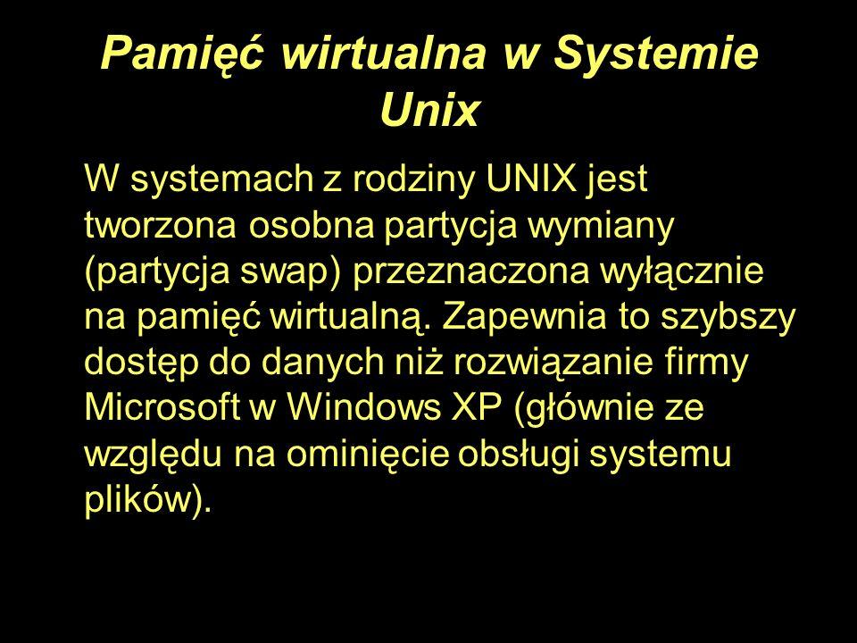 Pamięć wirtualna w Systemie Unix