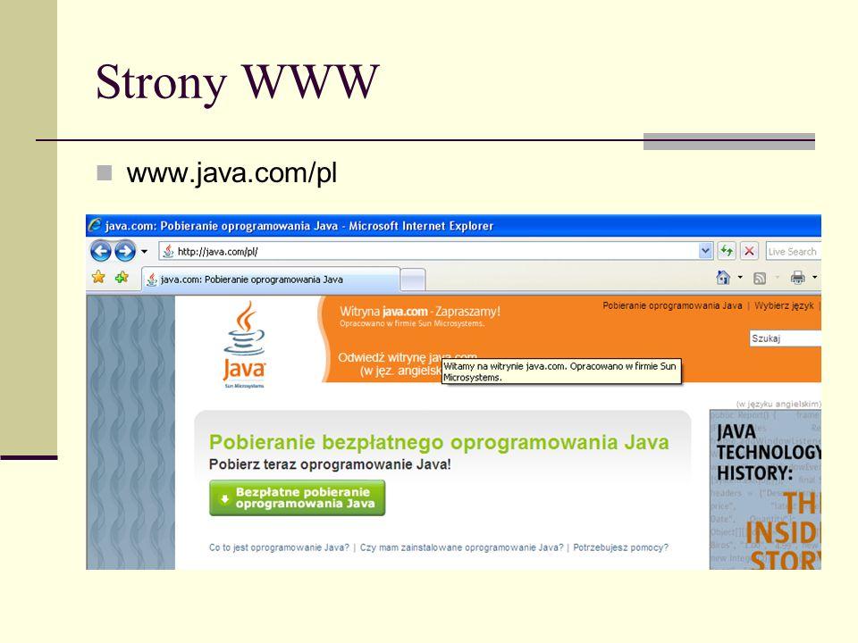 Strony WWW www.java.com/pl